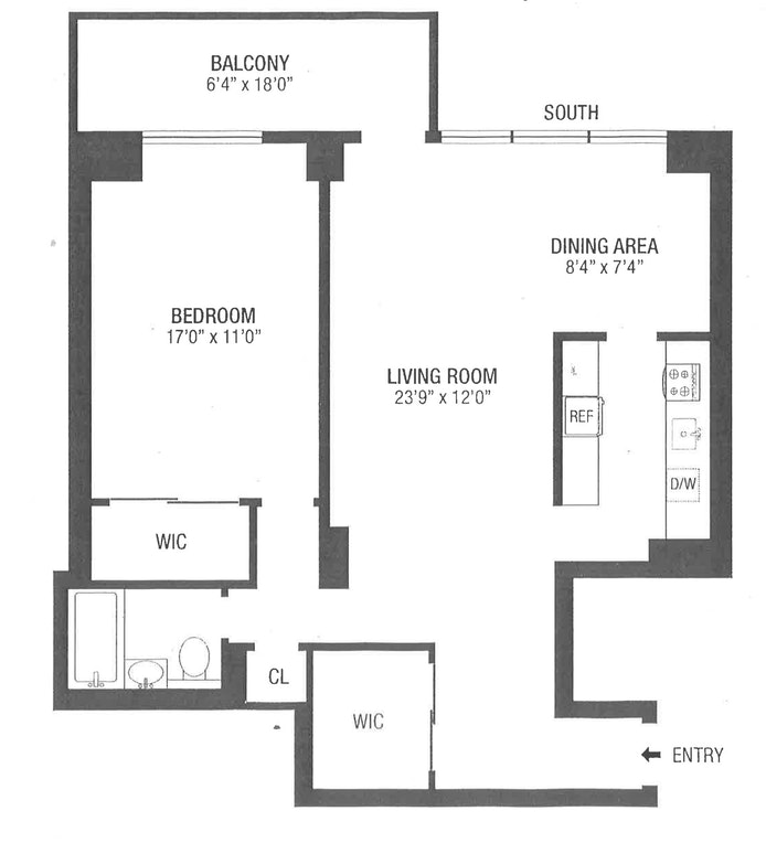 372 Central Park West 7W, Upper West Side, NYC, $3,900, Web #: 18581679