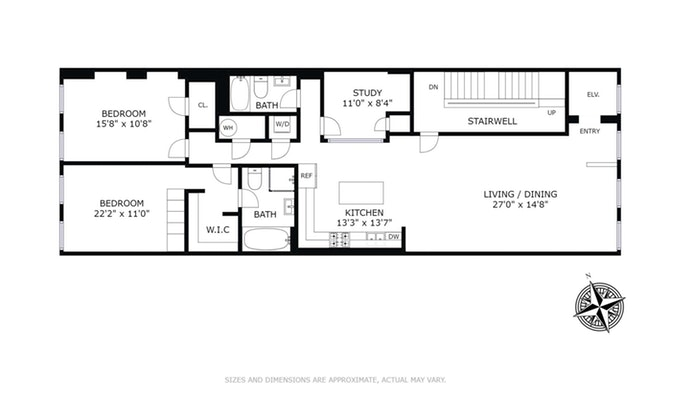 462 Greenwich Street 2Fl, Tribeca/SOHO/Chinatown, NYC, $2,950,000, Web #: 18587369