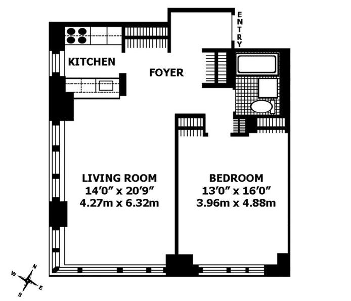 45 West 67th Street 7G, Upper West Side, NYC, $4,000, Web #: 18602922