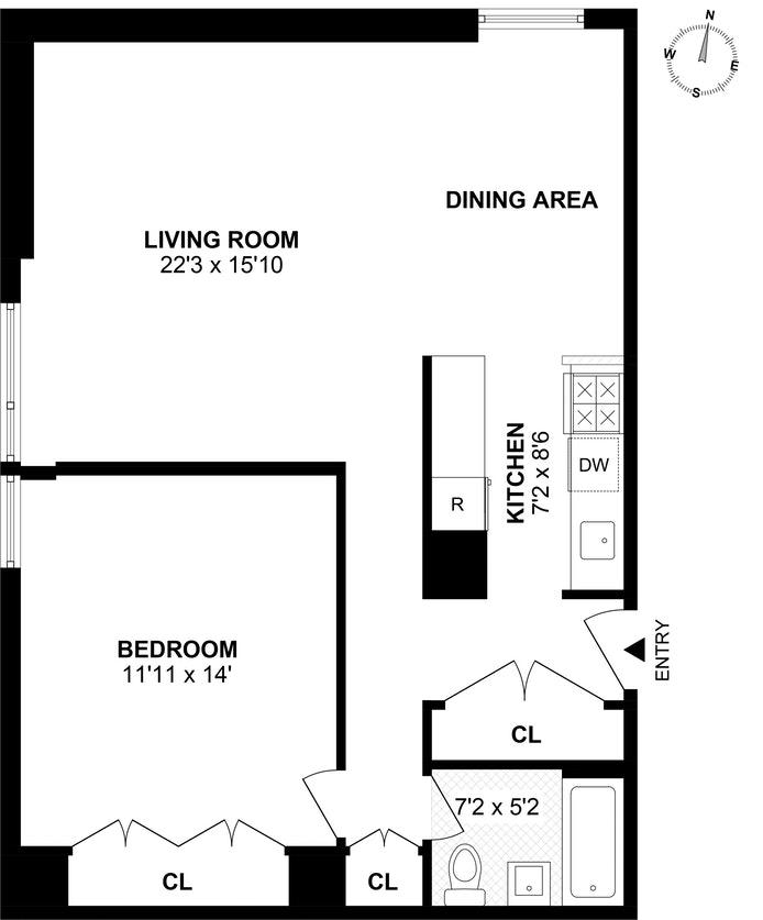 1623 Third Avenue 24C, Upper East Side, NYC, $820,000, Web #: 18619833
