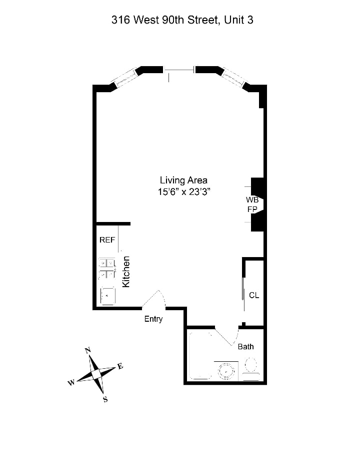 316 West 90th Street 3, Upper West Side, NYC, $2,150, Web #: 18628694