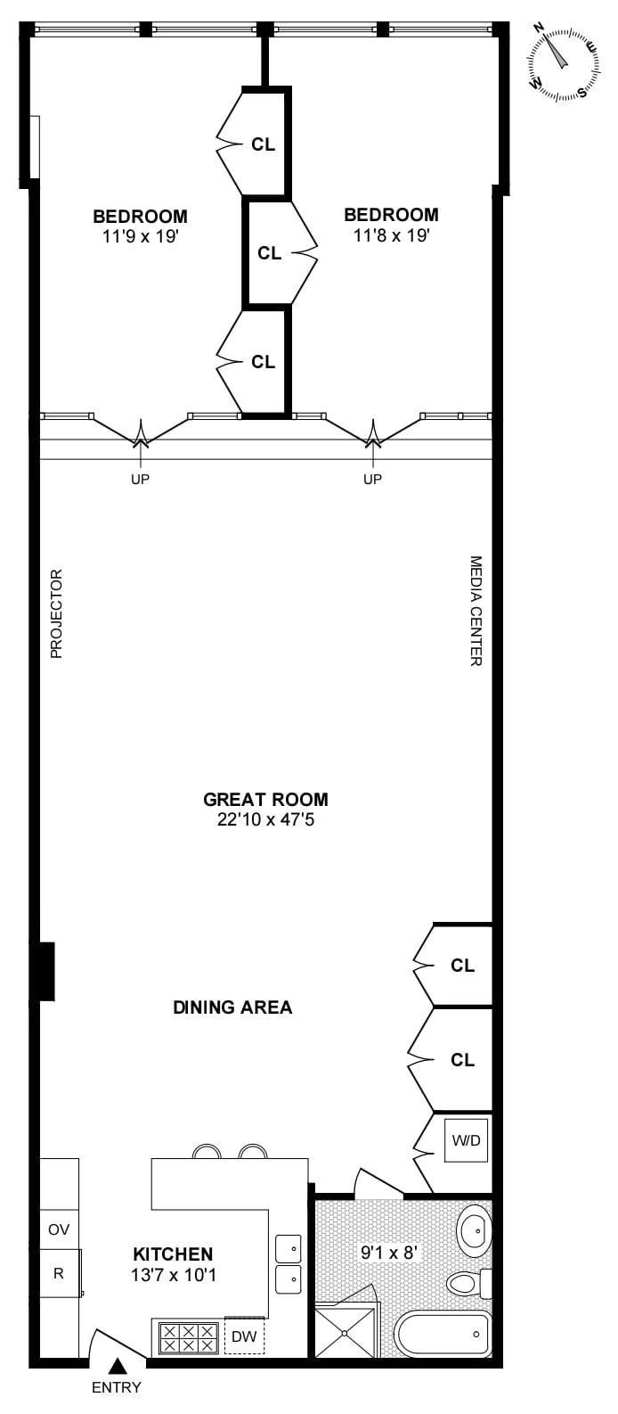 1 Bond Street 2B, Greenwich Village/NOHO/Little Italy, NYC, $12,000, Web #: 18629673