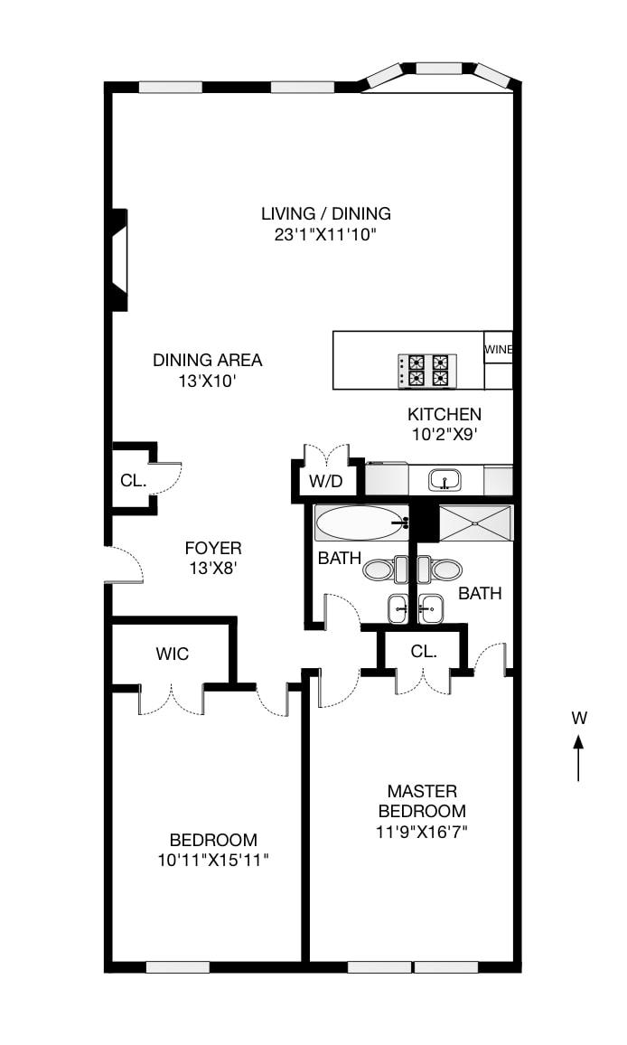 283 Hicks Street 2A, Brooklyn, New York, $1,800,000, Web #: 18631771