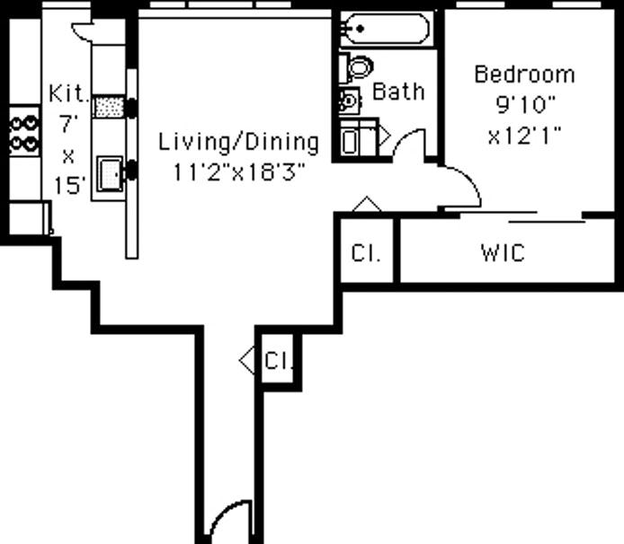 408 Saint Johns Place 2B, Brooklyn, New York, $2,700, Web #: 18648301