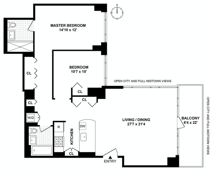 325 Fifth Avenue 33C, Midtown East, NYC, $1,690,000, Web #: 18650003