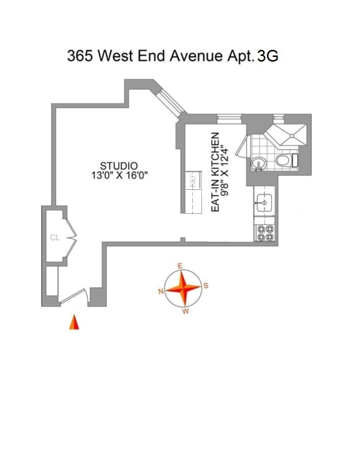 365 West End Avenue 3G, Upper West Side, NYC, $2,300, Web #: 18668468