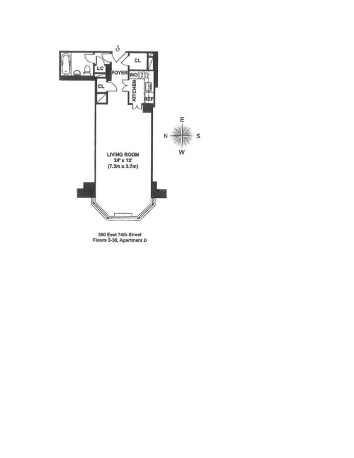 300 East 74th Street 11D, Upper East Side, NYC, $475,000, Web #: 18687481