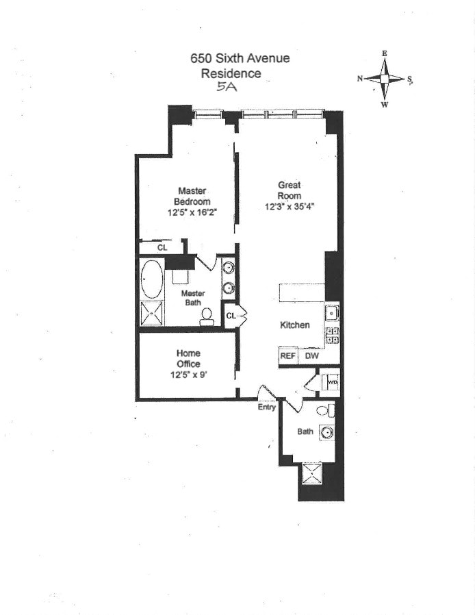 650 Sixth Avenue 5A, Flatiron, NYC, $6,800, Web #: 18706888
