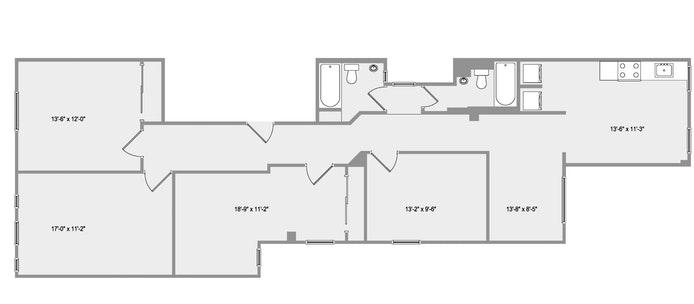 239 West 105th Street 4, Upper West Side, NYC, $5,900, Web #: 18712672