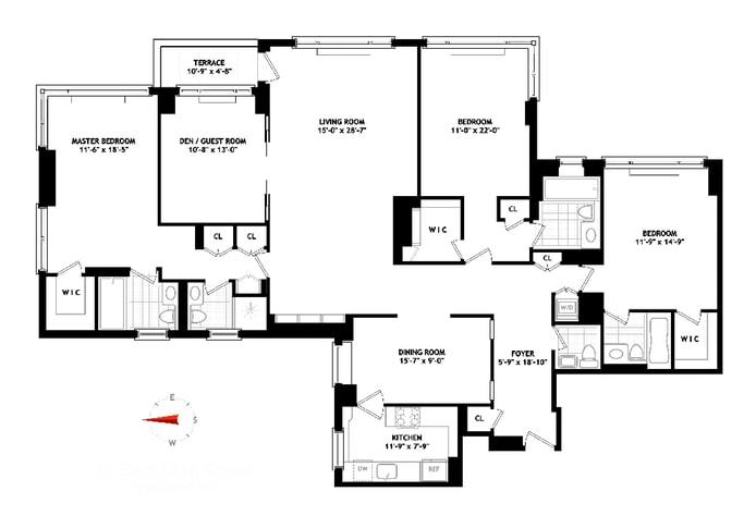 30 East 85th Street 9Ef, Upper East Side, NYC, $4,837,500, Web #: 18713435