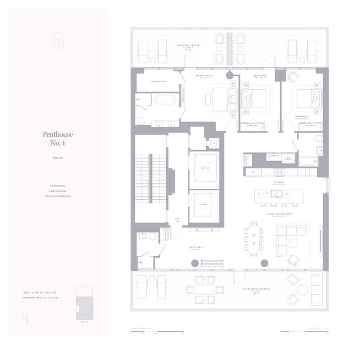 302 East 96th Street Ph1, Upper East Side, NYC, $3,950,000, Web #: 18727080