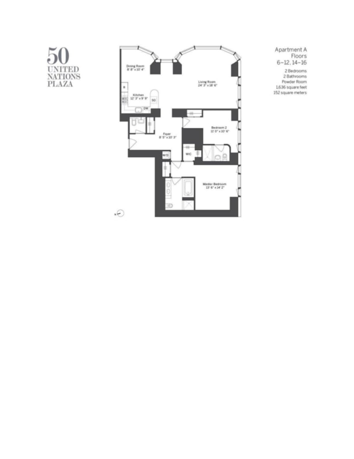 50 United Nations Plaza 15A, Midtown East, NYC, $10,250, Web #: 18741194
