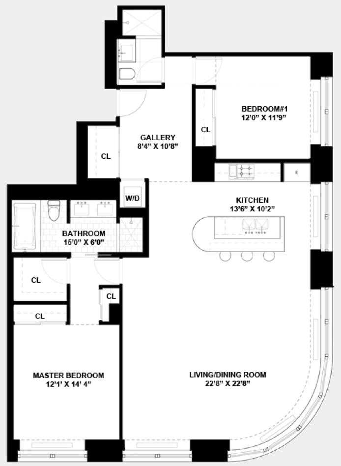 240 Park Avenue South 5A, East Village, NYC, $2,400,000, Web #: 18779390