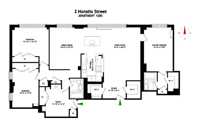 2 Horatio Street 12Rs, West Village, NYC, $3,150,000, Web #: 18782524