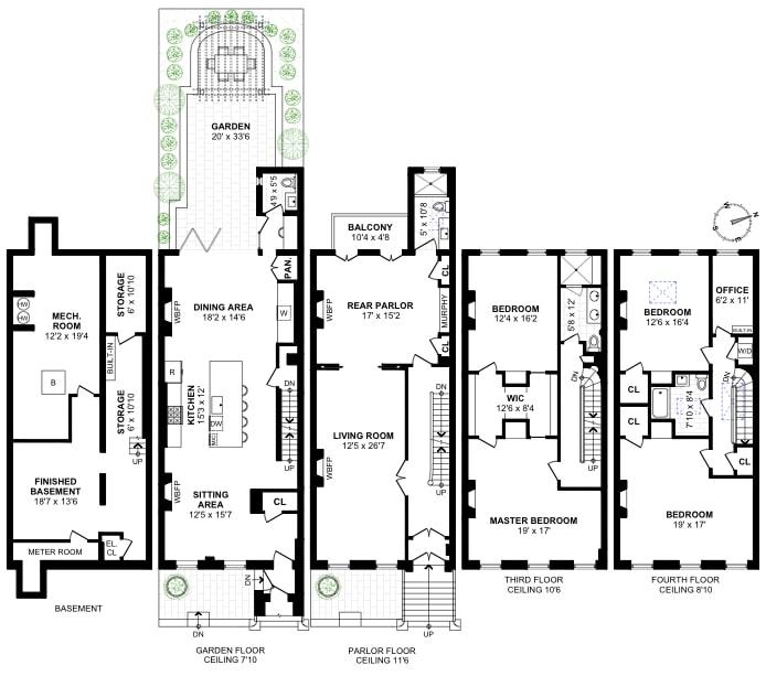 14 Garden Place, Brooklyn, New York, $6,900,000, Web #: 18825362