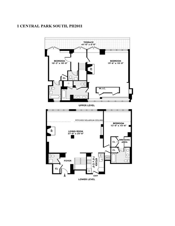 1 Central Park South Ph2011, Midtown East, NYC, $21,000, Web #: 18841860