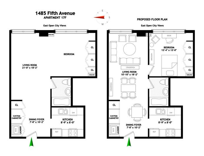 1485 Fifth Avenue 17F, East Harlem, NYC, $718,000, Web #: 18841865
