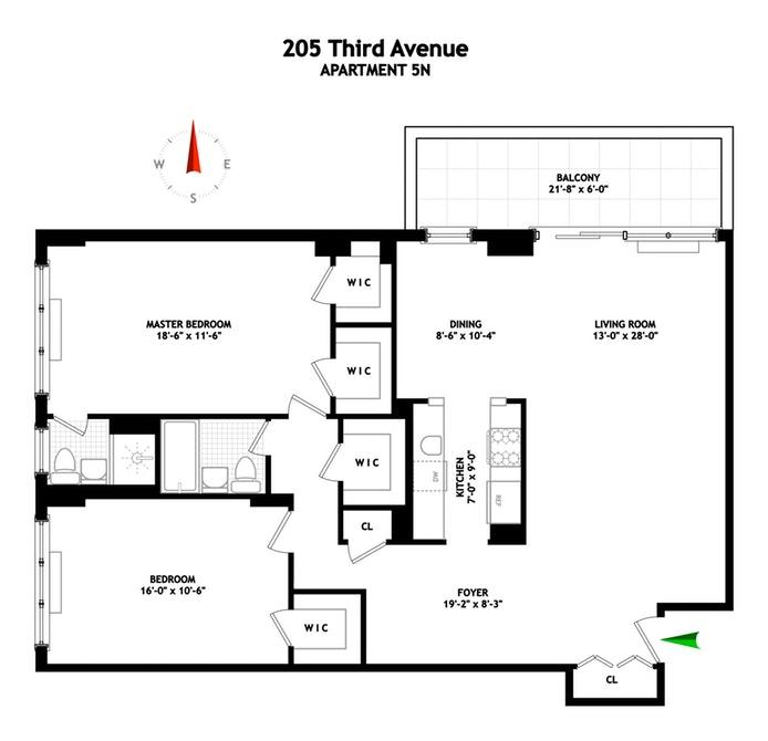 205 Third Avenue 5N, East Village, NYC, $1,450,000, Web #: 18899860