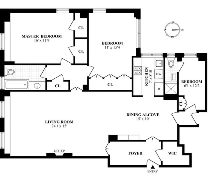 435 East 57th Street 11A, Midtown East, NYC, $1,150,000, Web #: 18946799