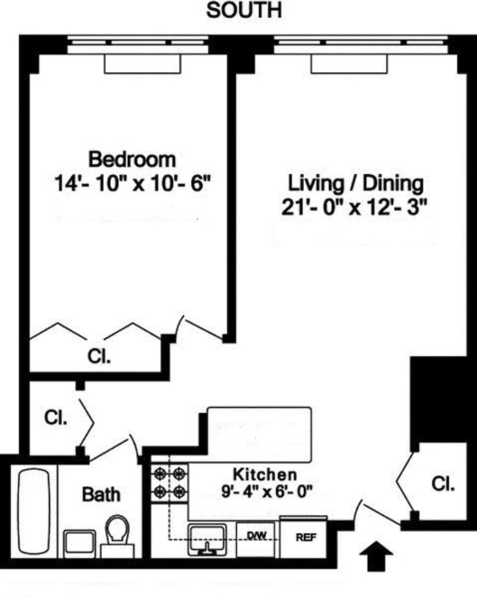 130 West 67th Street 2D, Upper West Side, NYC, $717,000, Web #: 18959600