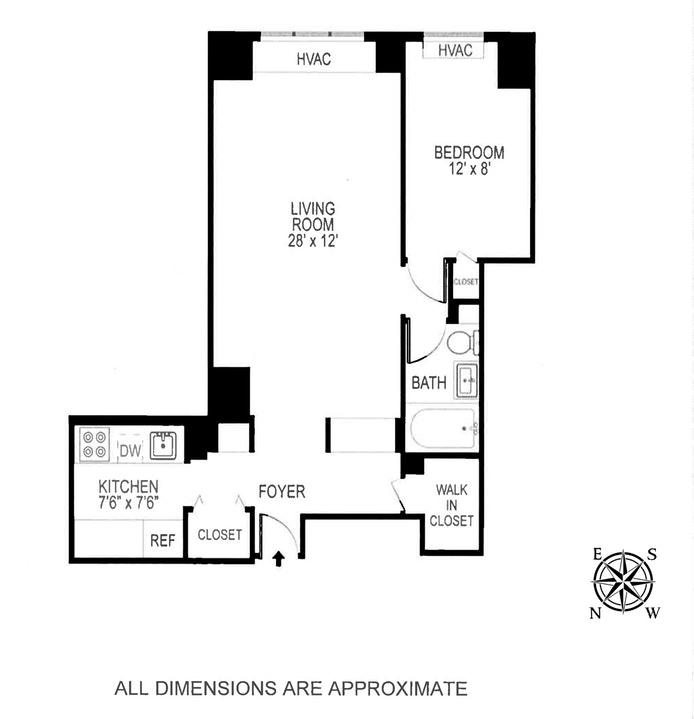 111 East 85th Street 6E, Upper East Side, NYC, $645,000, Web #: 18985180