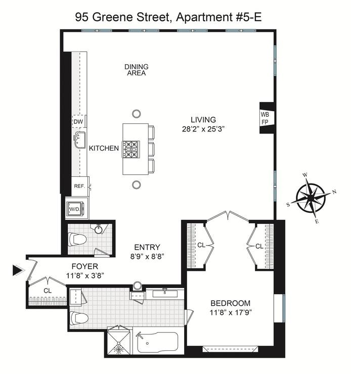 95 Greene Street 5E, Greenwich Village/NOHO/Little Italy, NYC, $2,130,000, Web #: 18996102