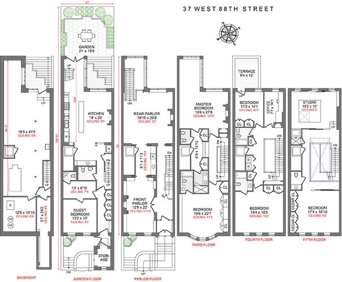 37 West 88th Street, Upper West Side, NYC, $8,875,000, Web #: 19010050