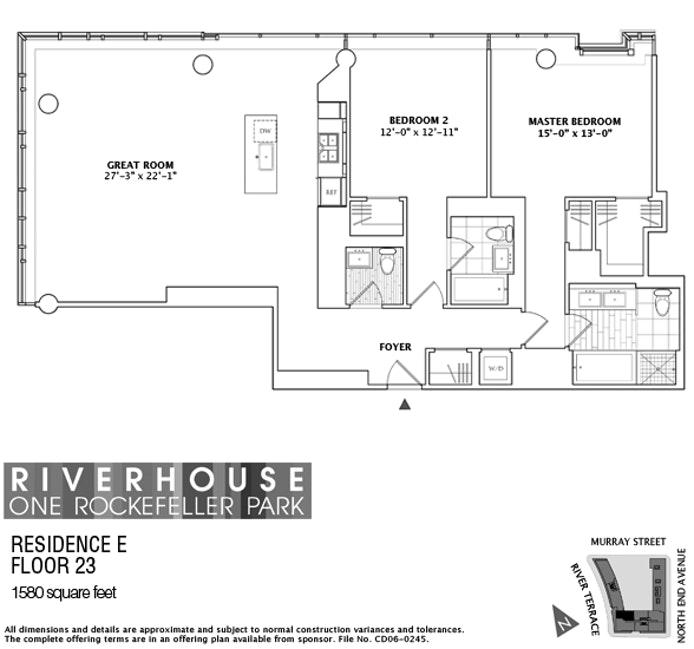 2 River Terrace 23E, Battery Park City, NYC, $10,000, Web #: 19010992