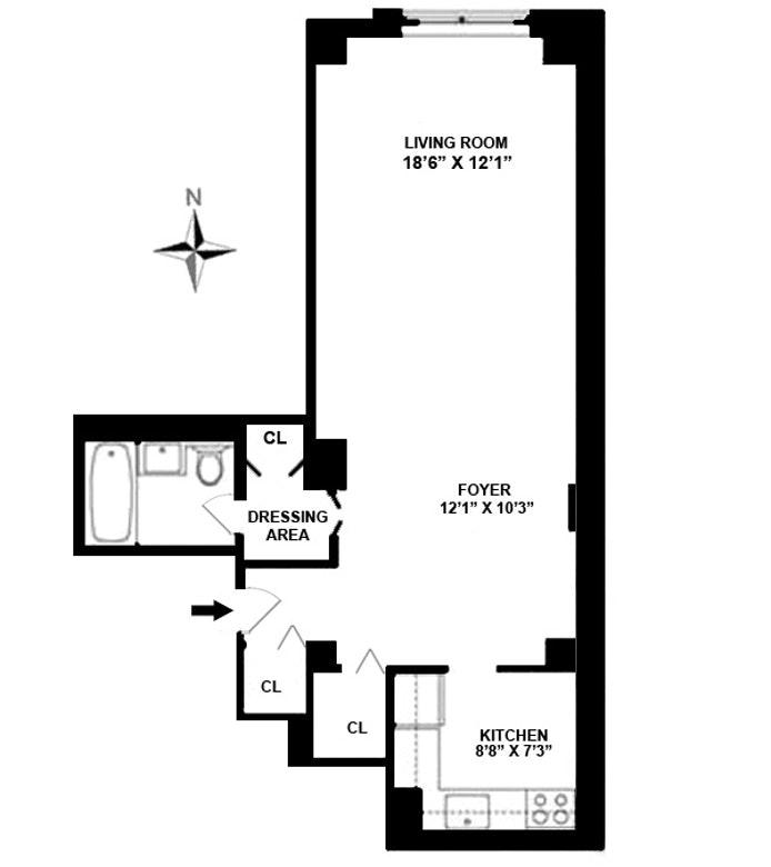 520 East 72nd Street 7R, Upper East Side, NYC, $399,000, Web #: 19020369