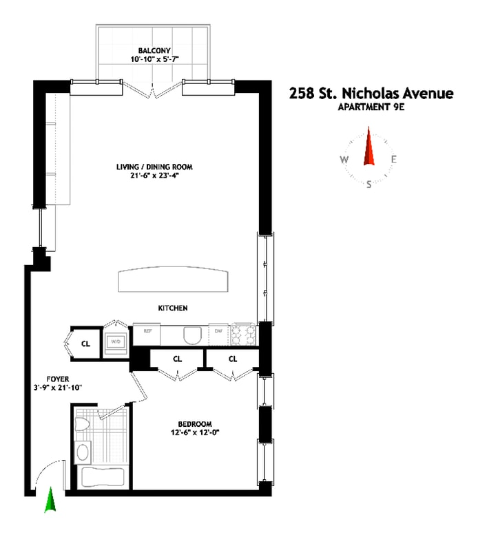258 St Nicholas Avenue 9E, Harlem, NYC, $942,000, Web #: 19049117