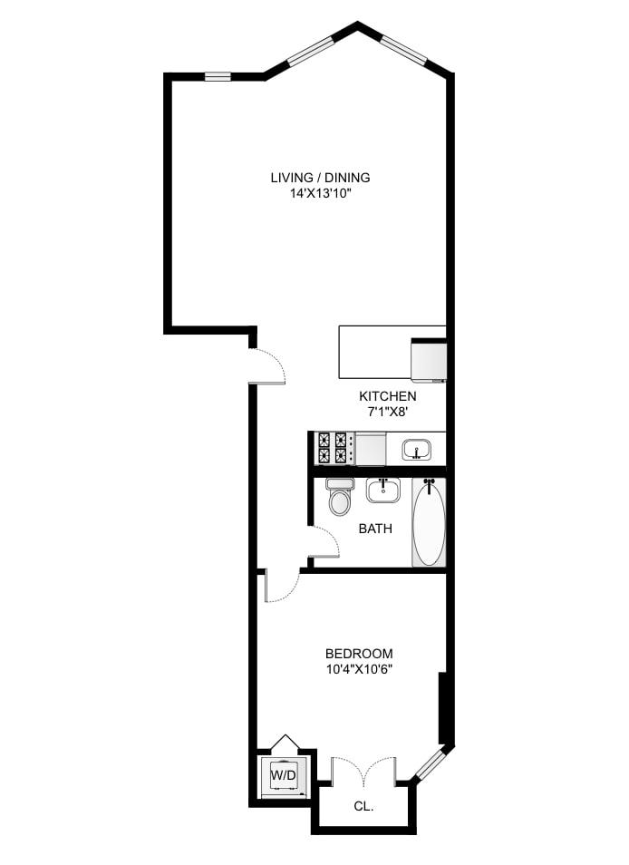 806 Washington Avenue 2D, Brooklyn, New York, $522,500, Web #: 19051322