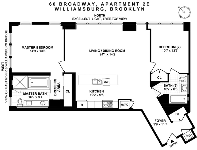 60 Broadway 2E, Brooklyn, New York, $1,300,000, Web #: 19054653