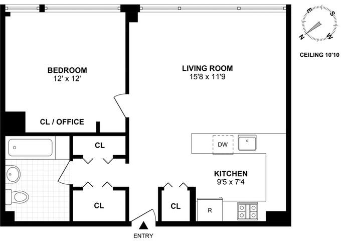 305 Second Avenue 329, East Village, NYC, $1,030,000, Web #: 19057390