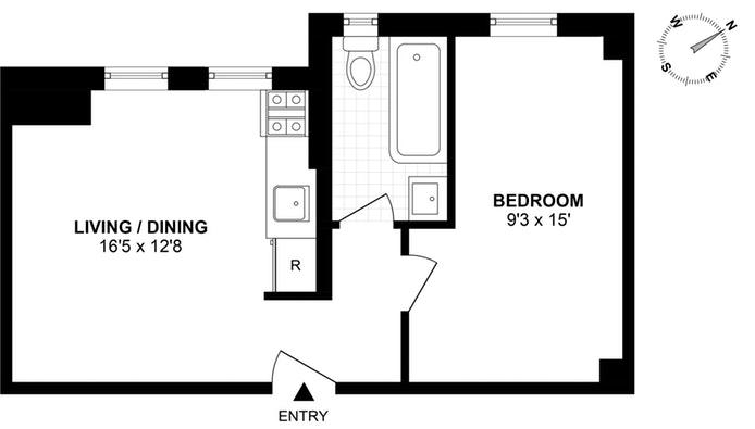 226 East 12th Street 6F, East Village, NYC, $470,000, Web #: 19065088