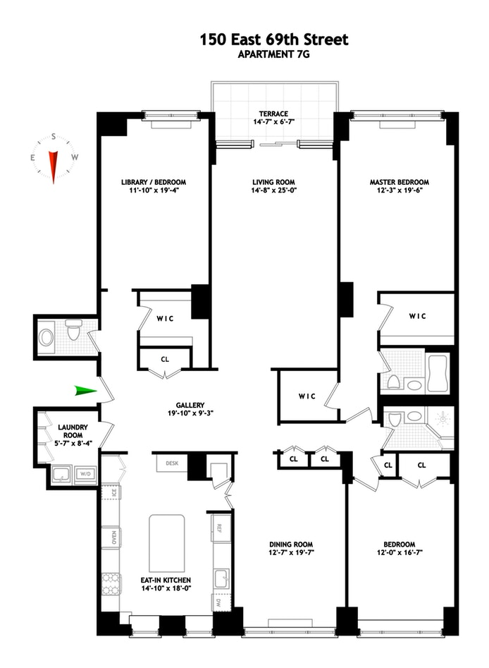 150 East 69th Street 7G, Upper East Side, NYC, $3,150,000, Web #: 19097145