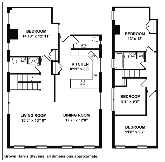 328 West 96th Street 2A, Upper West Side, NYC, $1,500,000, Web #: 19098673