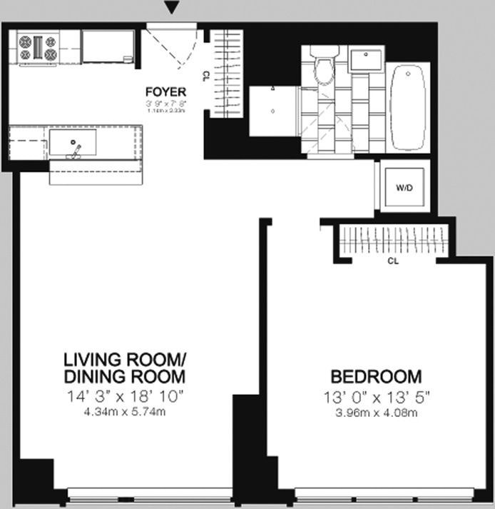 200 West End Avenue 5M, Upper West Side, NYC, $4,200, Web #: 19102412