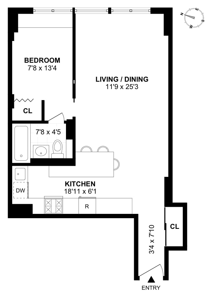 16 West 16th Street 12Hs, Greenwich Village/Chelsea, NYC, $750,000, Web #: 19106305