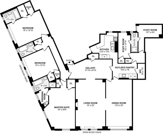 110 Riverside Dr 9A, Upper West Side, NYC, $4,200,000, Web #: 19167825