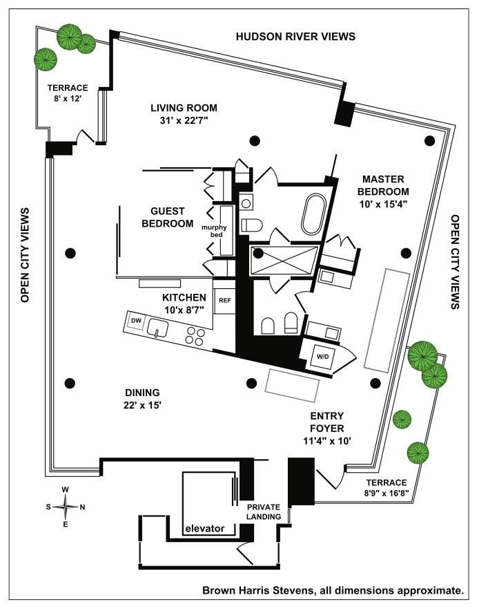 173 Perry Street 11N, West Village, NYC, $4,600,000, Web #: 19171769