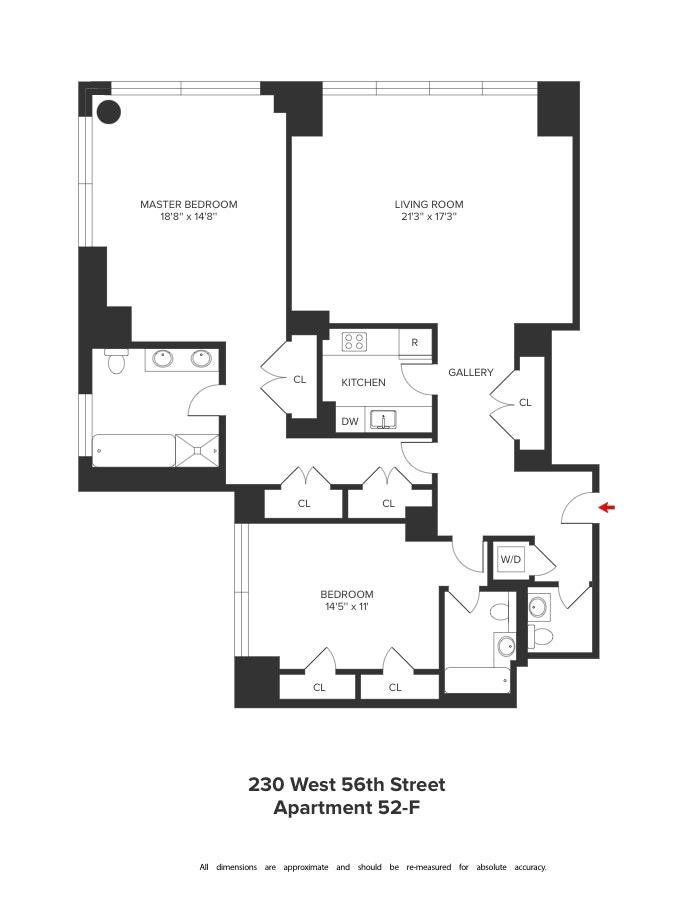 230 West 56th Street 52F, Midtown West, NYC, $11,900, Web #: 19210489