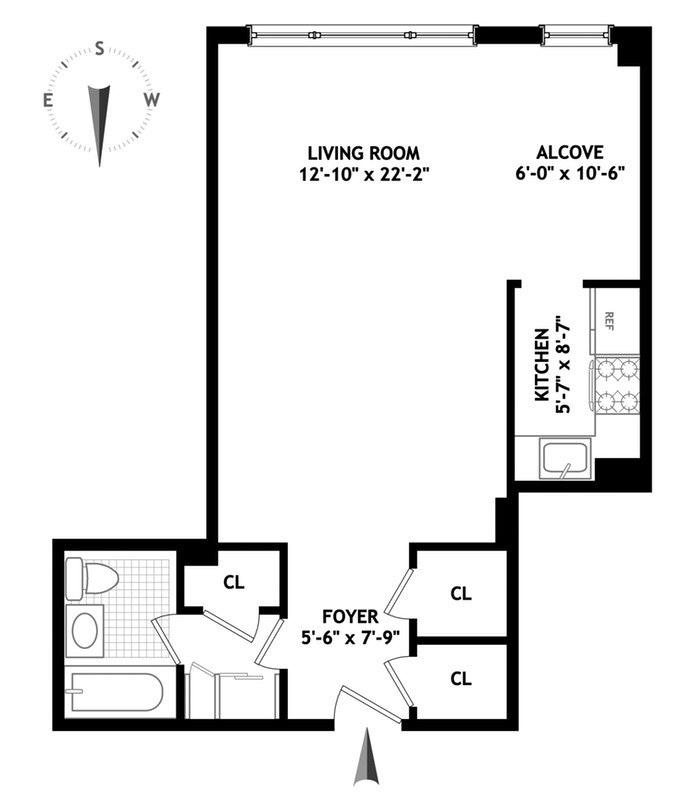 405 East 63rd Street 3G, Upper East Side, NYC, $380,000, Web #: 19219156
