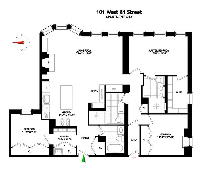 101 West 81st Street, Upper West Side, NYC, $2,900,000, Web #: 19224806