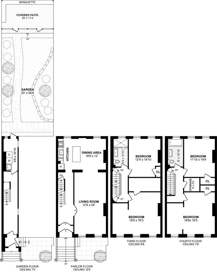 85 Downing Street, Townhouse, Brooklyn, New York, $7,250, Web #: 19225207