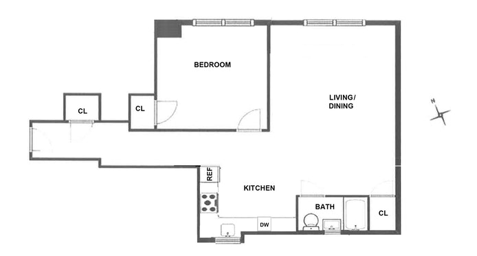 365 West End Avenue 6F, Upper West Side, NYC, $3,600, Web #: 19226297