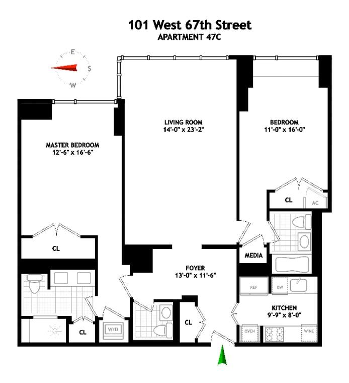 101 West 67th Street 47C, Upper West Side, NYC, $3,700,000, Web #: 19242282