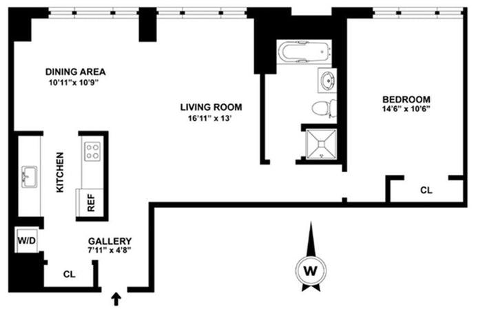 404 East 76th Street 22B, Upper East Side, NYC, $1,140,000, Web #: 19249293