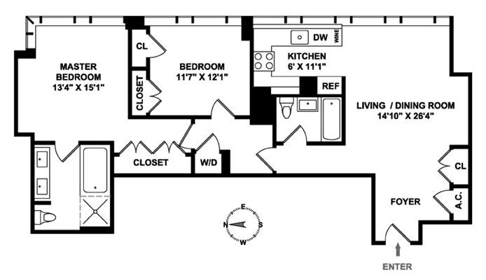 245 West 99th Street 9C, Upper West Side, NYC, $6,900, Web #: 19258263