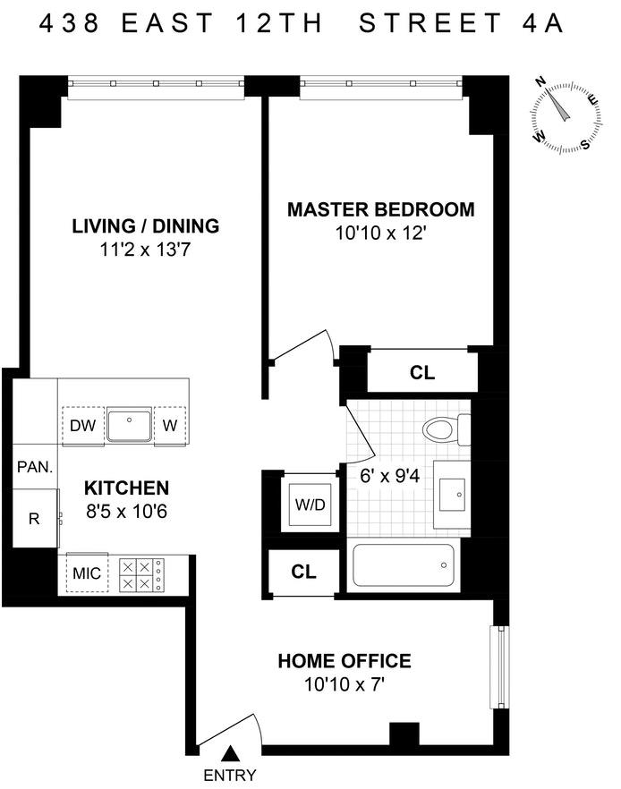 438 East 12th Street 4A, East Village, NYC, $5,500, Web #: 19262888