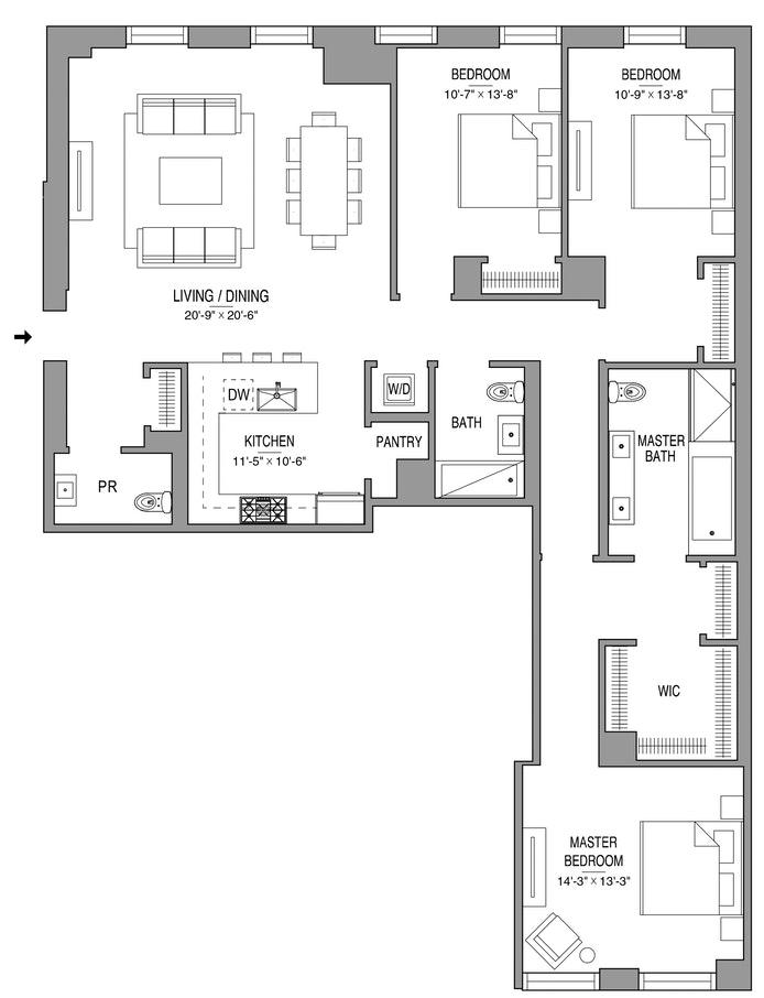 55 West 17th Street 804, Greenwich Village/Chelsea, NYC, $3,638,144, Web #: 19283646